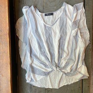 KLD striped crop shirt   size small